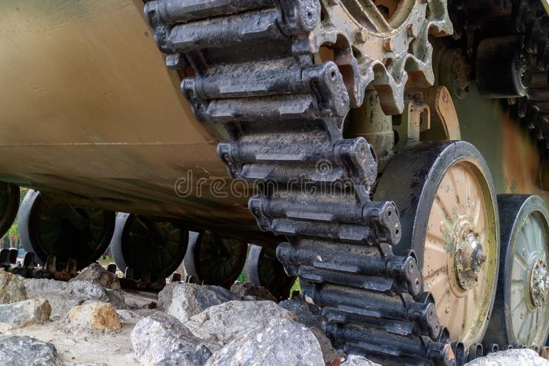Wheelset from airborne combat vehicle royalty free stock photos