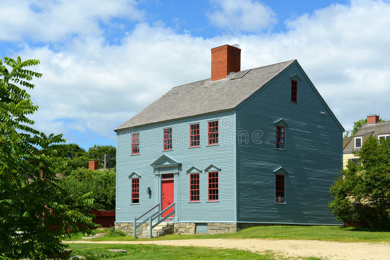 Wheelwright House, Portsmouth, New Hampshire stock afbeeldingen