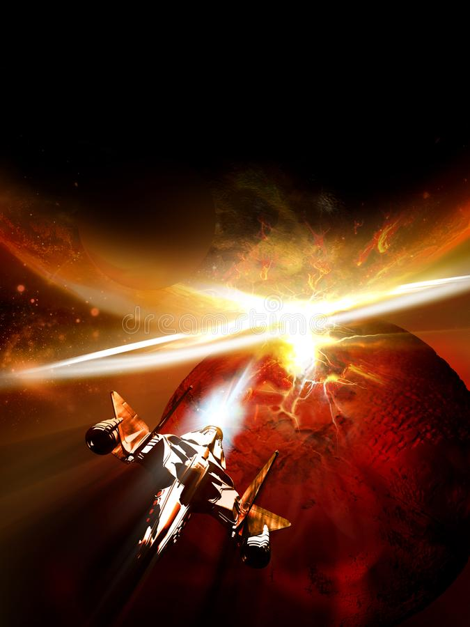Free When Worlds Collide Royalty Free Stock Photo - 127133185