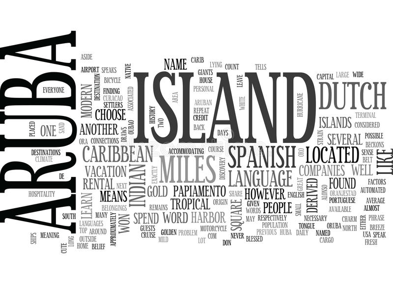 Download Where Is Aruba Located Word Cloud Stock Illustration