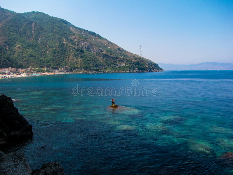 Where Calabria meets Sicily royalty free stock photo