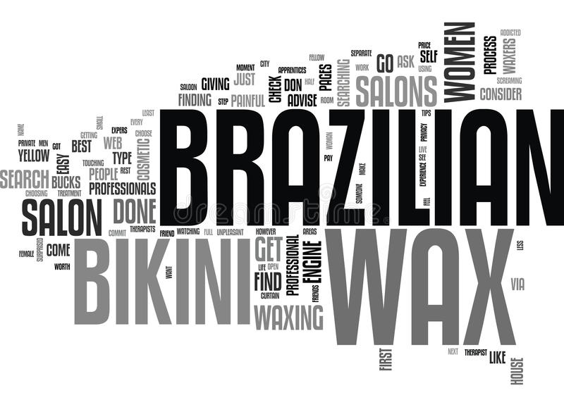 Where Can I Get A Brazilian Wax Word Cloud stock illustration