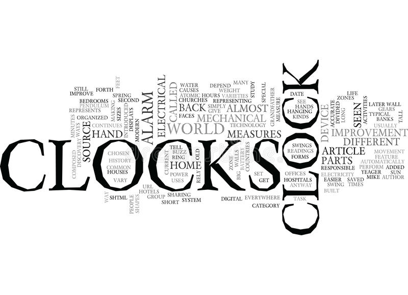 Where Did We Get Clocks From Anyway Word Cloud. WHERE DID WE GET CLOCKS FROM ANYWAY TEXT WORD CLOUD CONCEPT vector illustration