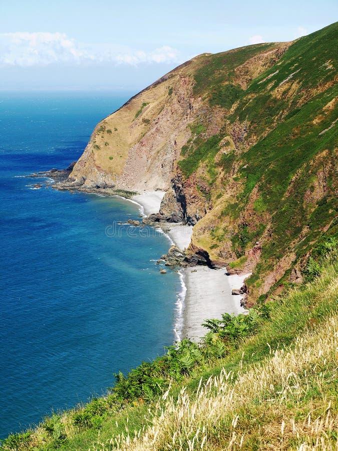 North Devon Coast. Where Exmoor meets the sea North Devon Somser border bristol channel stock images