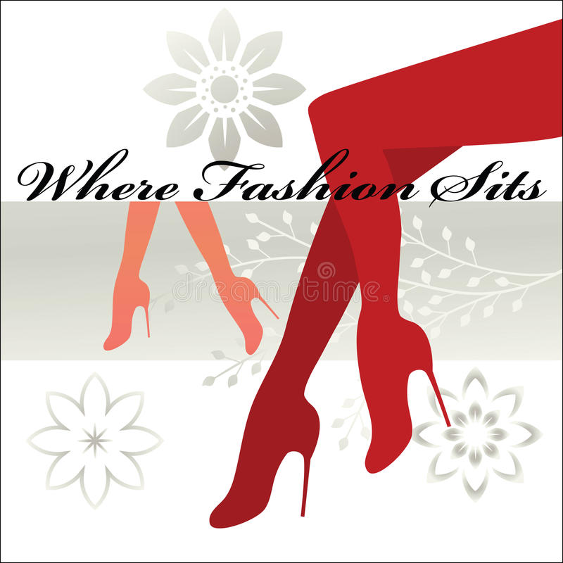 Download Where Fashion Sits - Shapely Legs And Feet Stock Vector - Image: 10600792