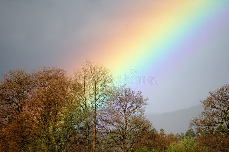 Download Where the rainbow rises stock image. Image of rain, refraction - 522839