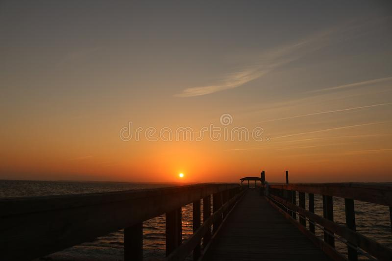 Where the sun sets is a world full of color royalty free stock image