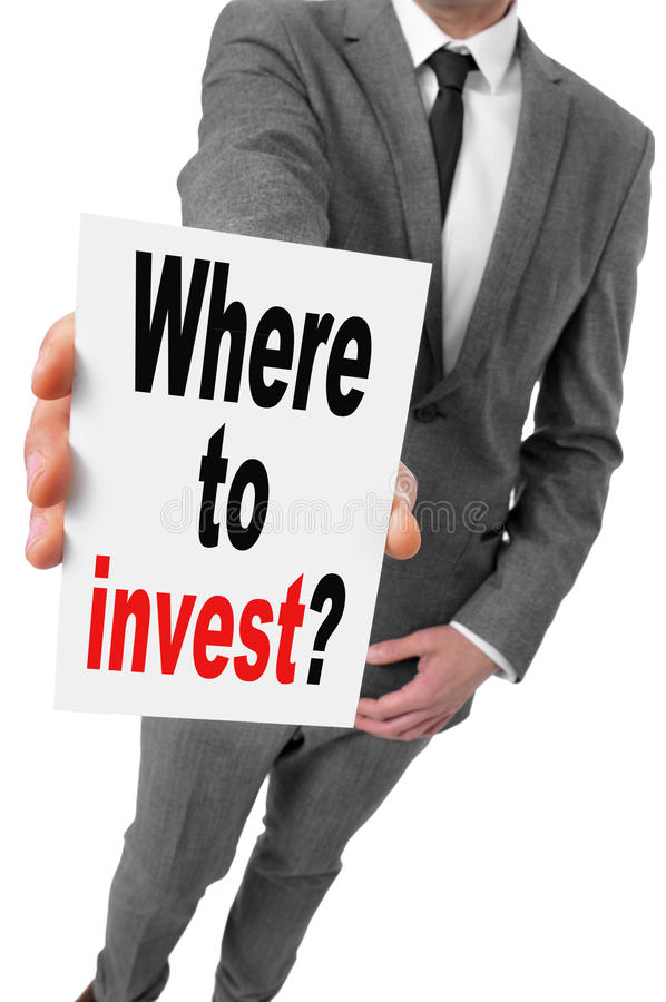 Where to invest? royalty free stock photography