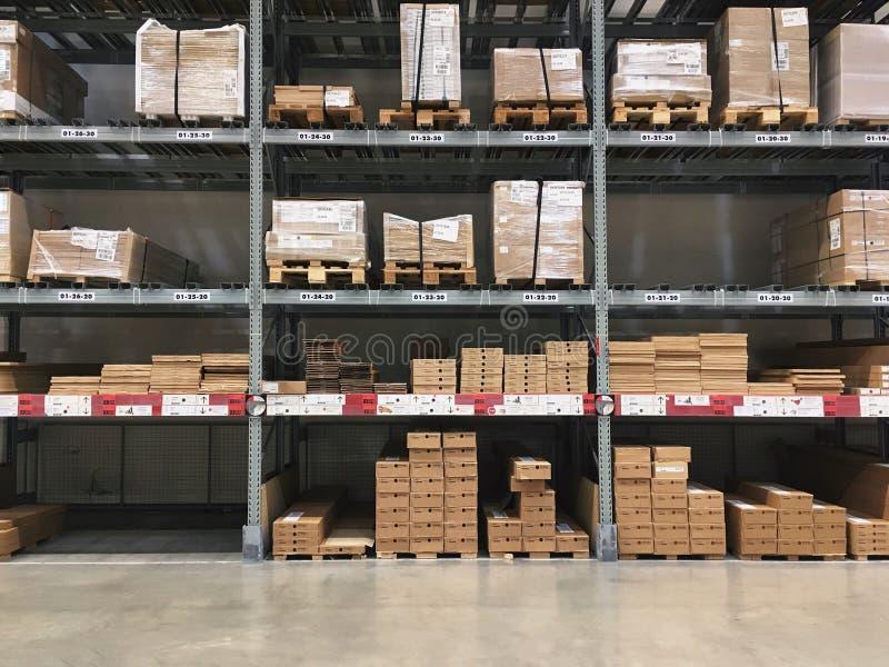 Wherehouse in fabbrica immagini stock libere da diritti