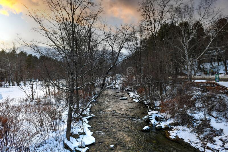 Whetstone Brook - Vermont imagem de stock