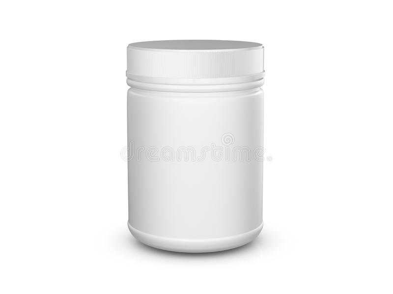 Whey protein container stock illustration Illustration of white