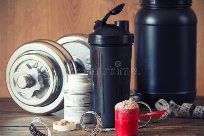 Whey protein powder stock photos