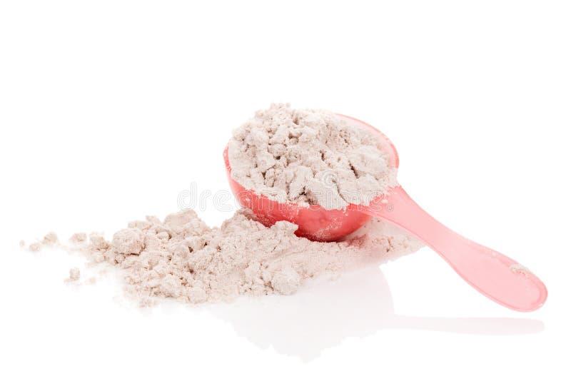 Whey protein powder. stock image