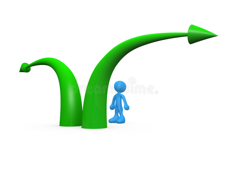 Download Which Direction stock illustration. Illustration of cartoon - 4562251