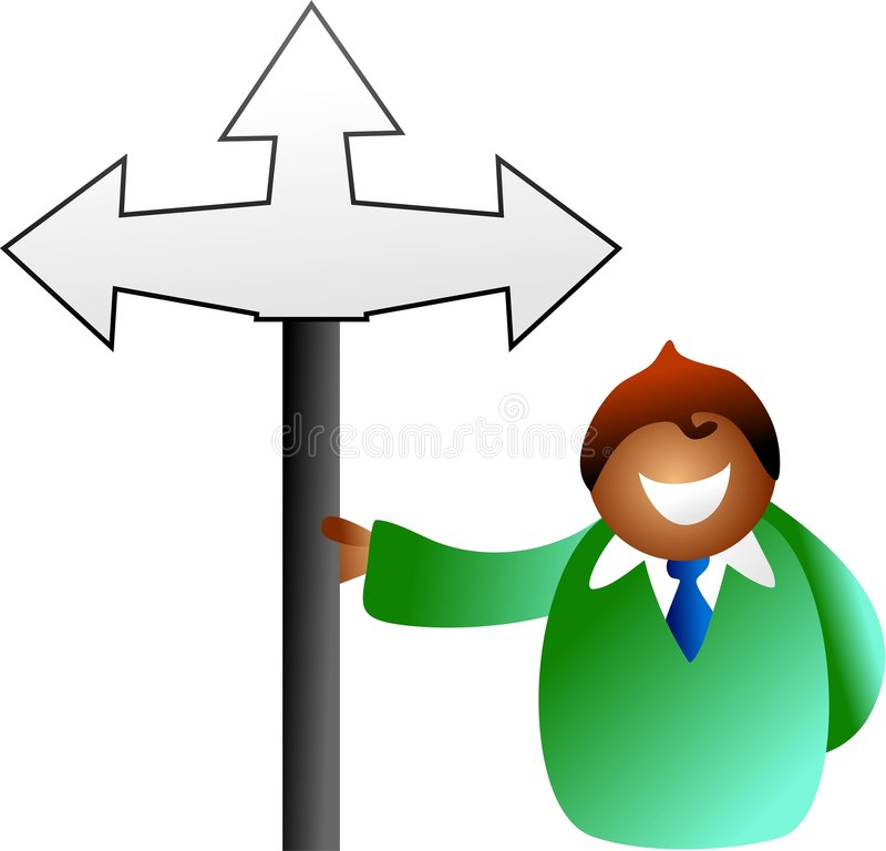 Download Which way man stock illustration. Image of success, onwards - 1100170