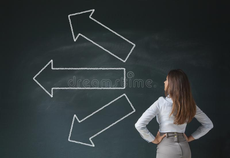 Which Way Should I Go stock image