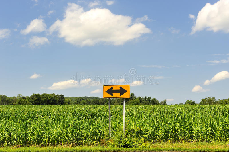 Which way should I go? Decision Sign Symbol stock photography