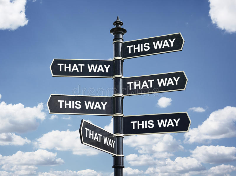 Which way to go? royalty free stock photography