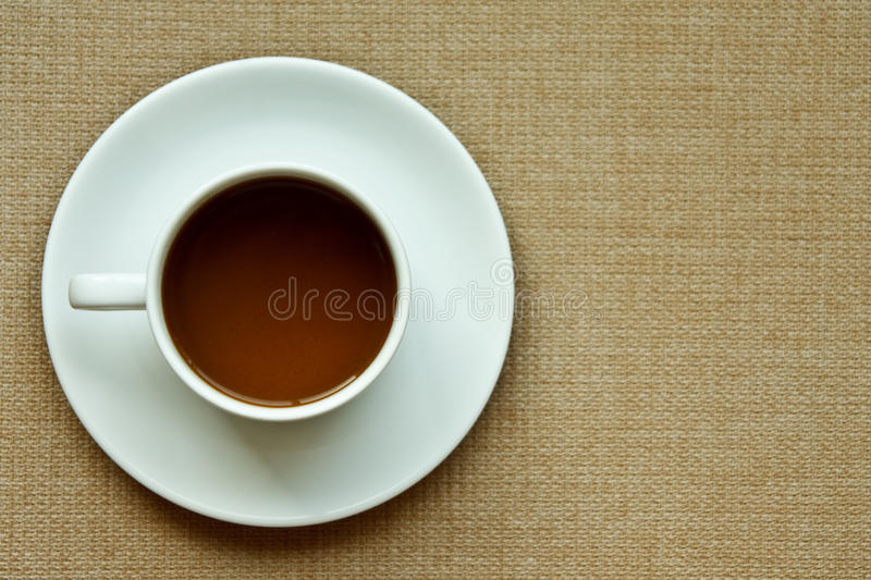 Download Whie Coffee Cup On Cloth Texture Stock Image - Image: 17065451