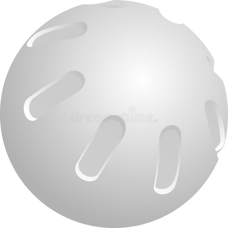whiffle piłka z tworzywa sztucznego royalty ilustracja