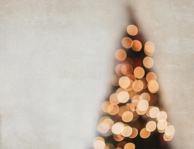 Whimsical Bokeh Blur Christmas Tree Background royalty free stock photo