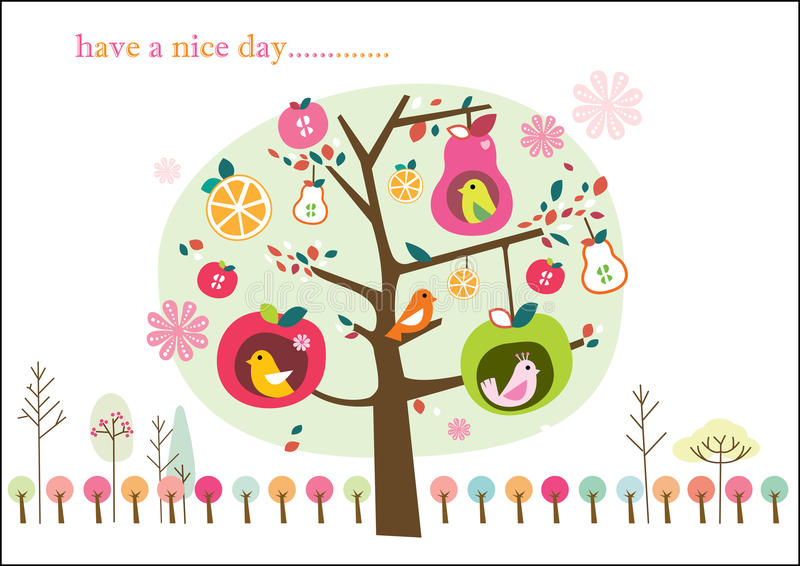 Download Whimsical fruit tree stock vector. Image of colorful - 12378422