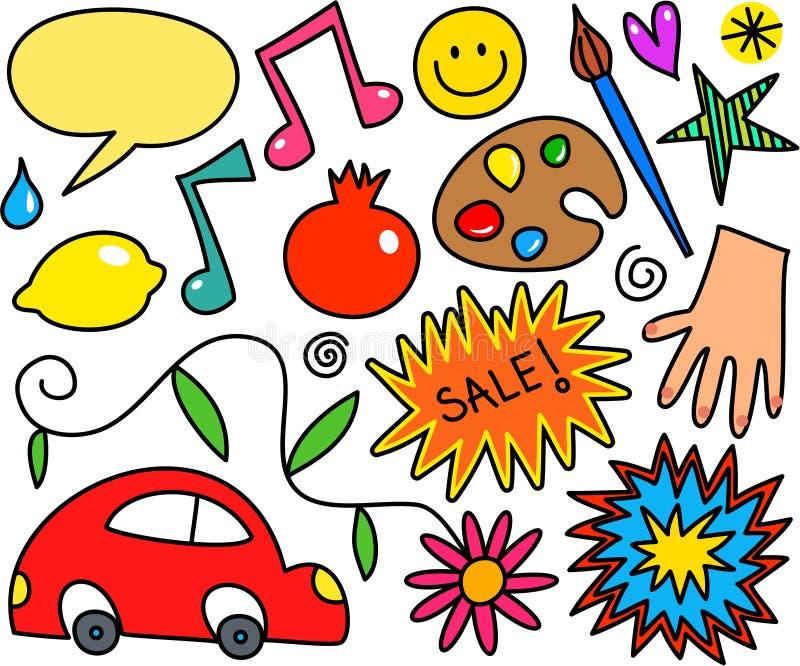 Whimsical Icon Set vector illustration
