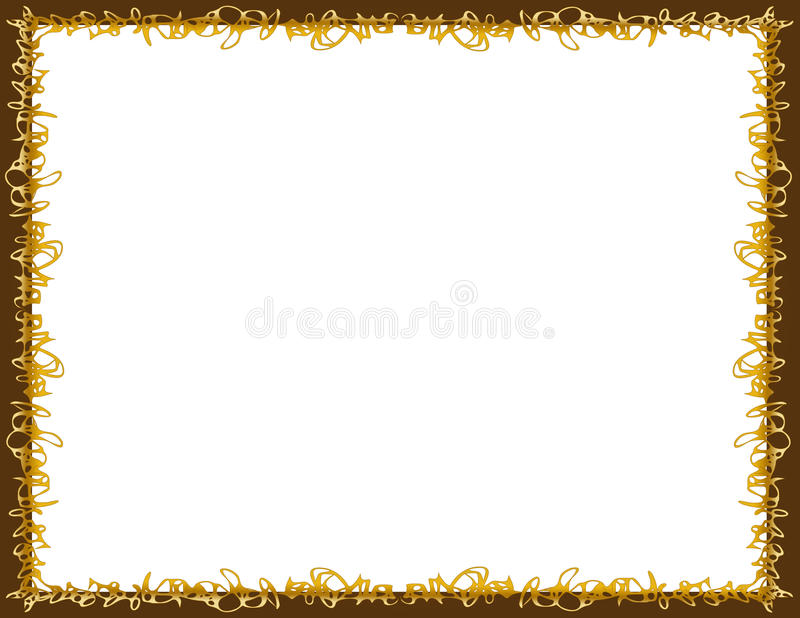 Spun Caramel and Chocolate Border royalty free stock photos