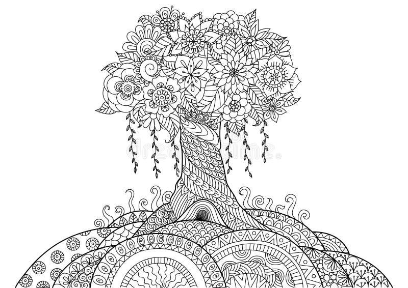 Whimsical tree royalty free illustration