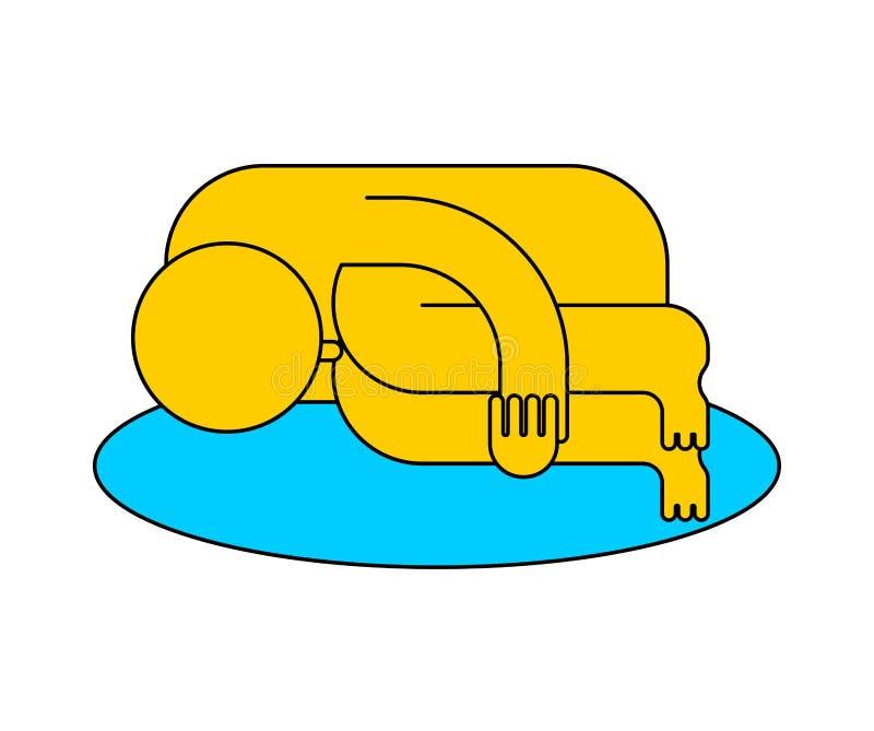 Whinerpictogram Droevige Mensen Schreeuwende pool van scheuren Whiny teken Moaner sy stock illustratie