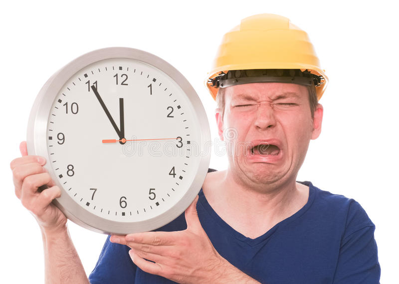 Whiny building time royalty free stock photos