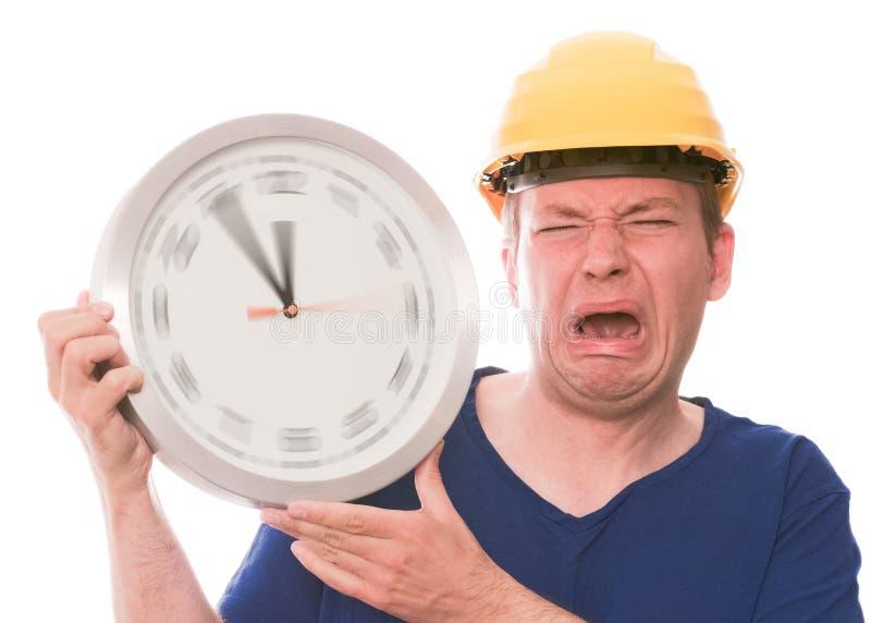 Whiny de bouwtijd (het spinnen de versie van horlogehanden) stock foto's