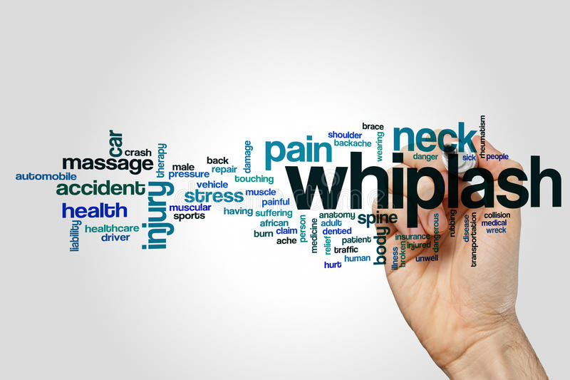 Whiplash word cloud royalty free stock photo