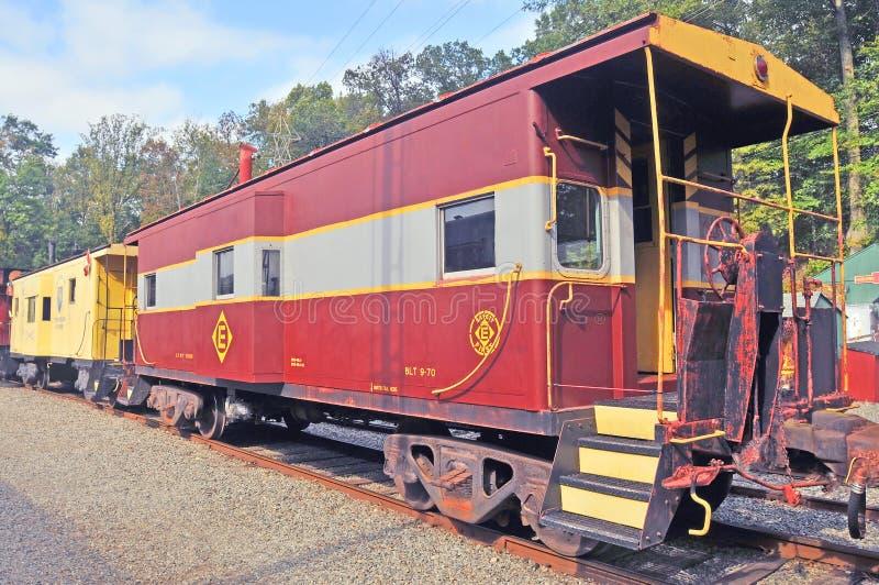 Whippany-Eisenbahn-Museum: Erkerfenster-Kombüse stockbilder