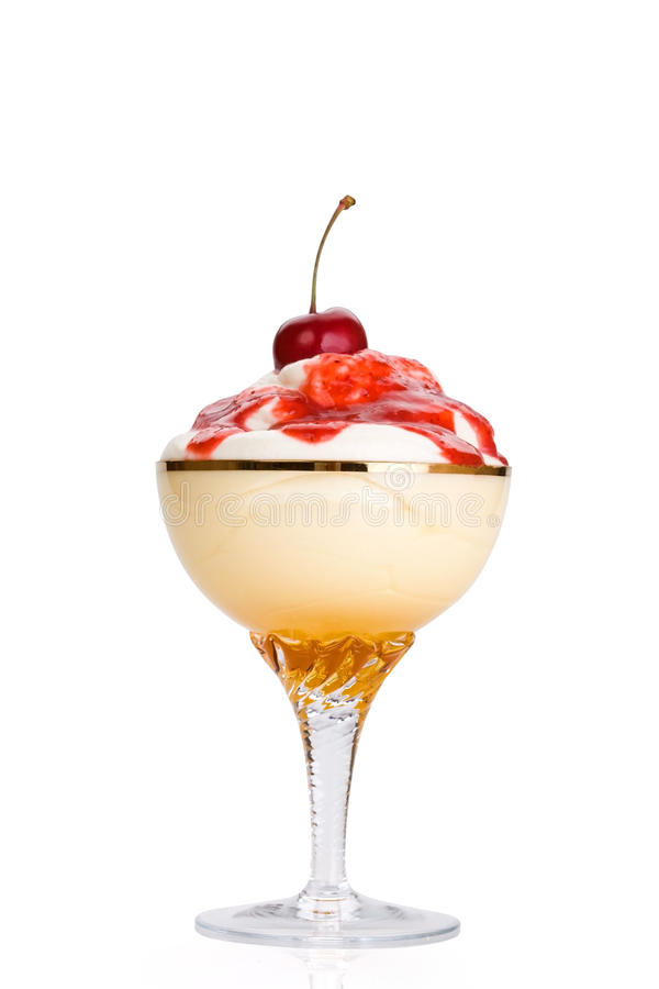 Whipped Cream With Jam Royalty Free Stock Photos