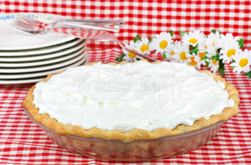 Whipped Cream Pie stock photo