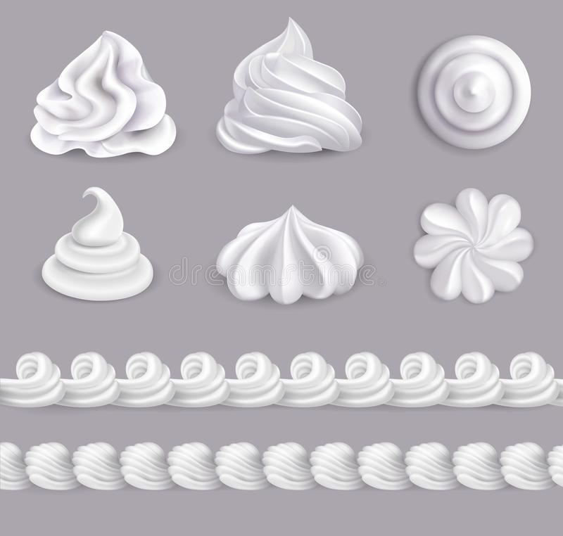Whipped Cream Set royalty free illustration