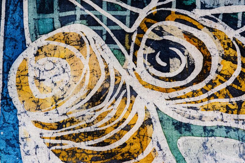 Whirl, hot batik, background texture, handmade on silk, abstract surrealism art royalty free stock images