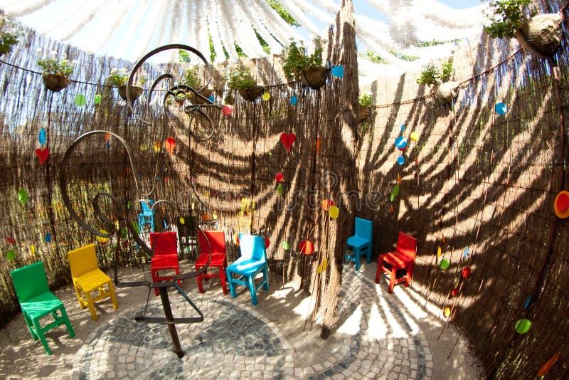 Whirld of Sensations. Ponte de Lima, Portugal - August 20, 2013: the 9th Ponte de Lima International Garden Festival of Ponte de Lima is composed by the creation stock images