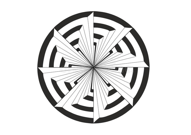 Whirligig cel ilustracji