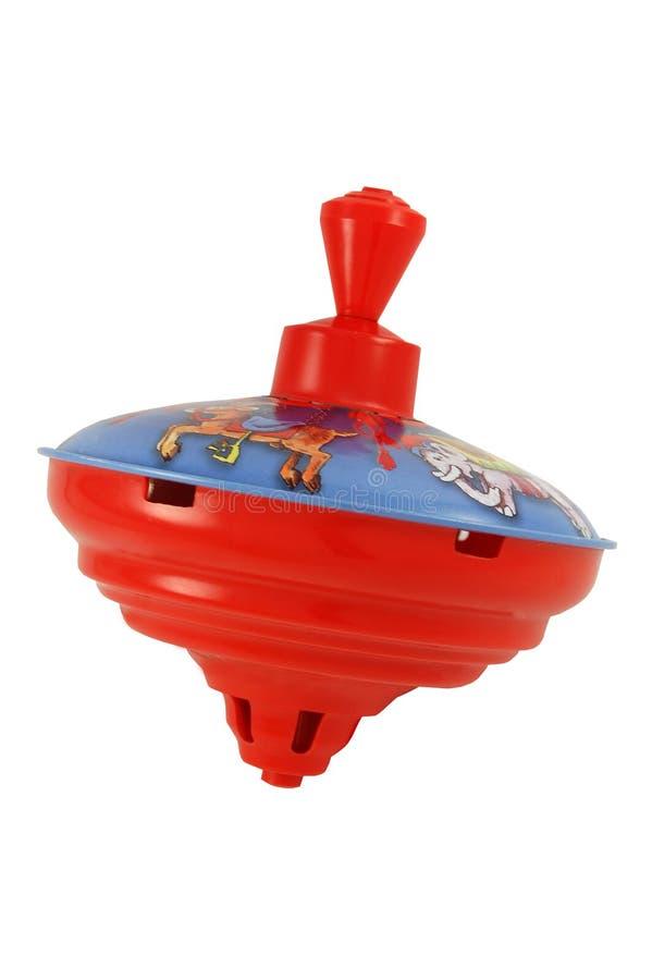 Whirligig del metallo del giocattolo isolato su bianco immagini stock libere da diritti