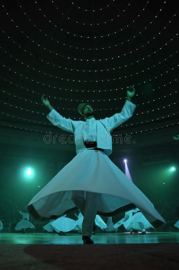 Whirligig dervish in religious dancing royalty free stock photo