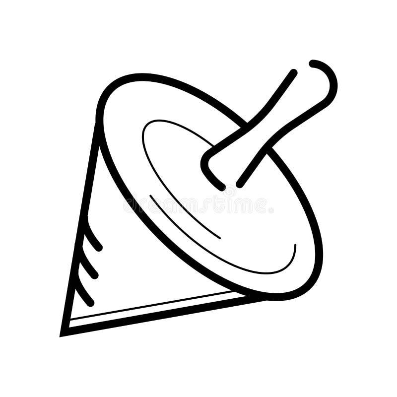 Whirligig ikony wektor royalty ilustracja