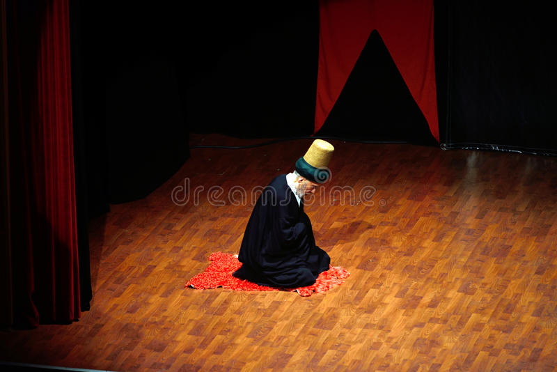 Whirling dervish grandparents stock photo