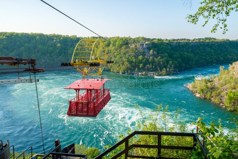Whirlpool Aero Car. At Niagara, Canada. Beautiful and scenic view of the Whirlpool at Niagara falls royalty free stock images