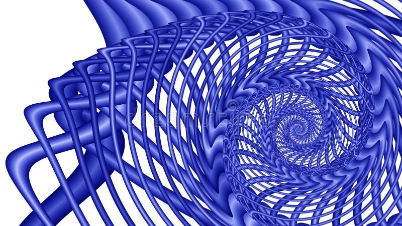 Whirlpool azul - imagem do fractal ilustração do vetor
