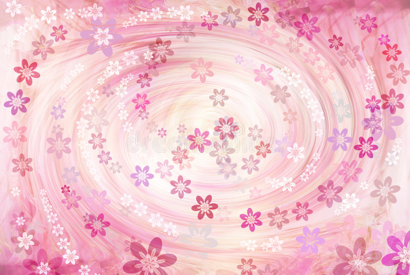 A whirlpool is flowers stock illustration