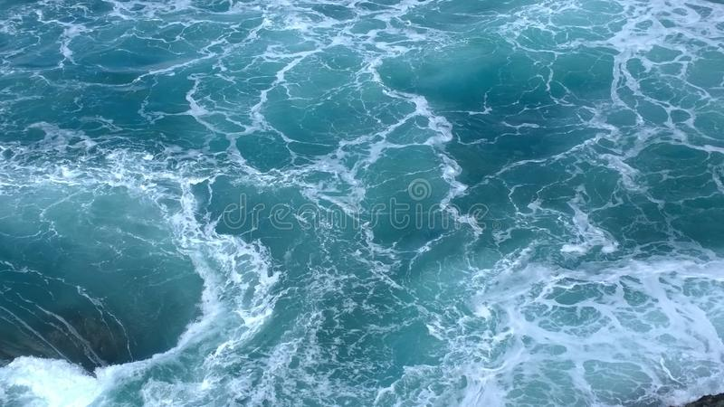 Whirlpool in the sea stock photography
