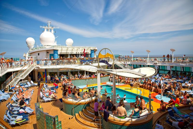 Whirlpools on Cruise Ship Deck royalty free stock image