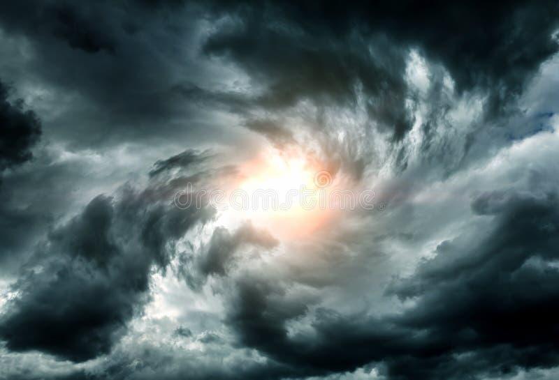 Whirlwind στα σύννεφα στοκ φωτογραφίες με δικαίωμα ελεύθερης χρήσης